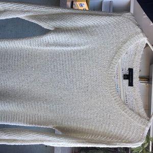 Ann Taylor Sweater - Sparkle White